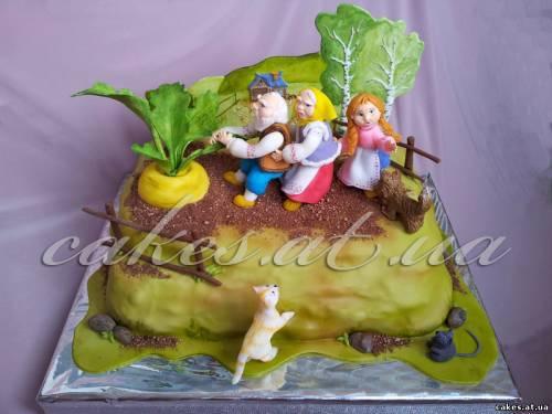 Фото торт сказка первым способом