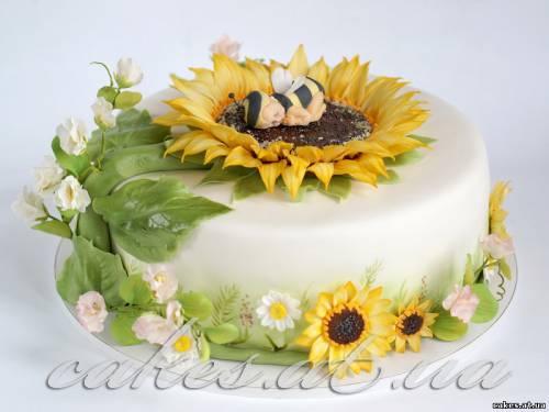 Торт подсолнухи фото