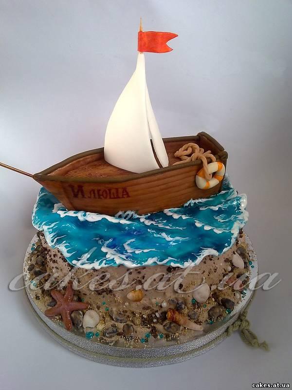 Детский торт крраблик фото