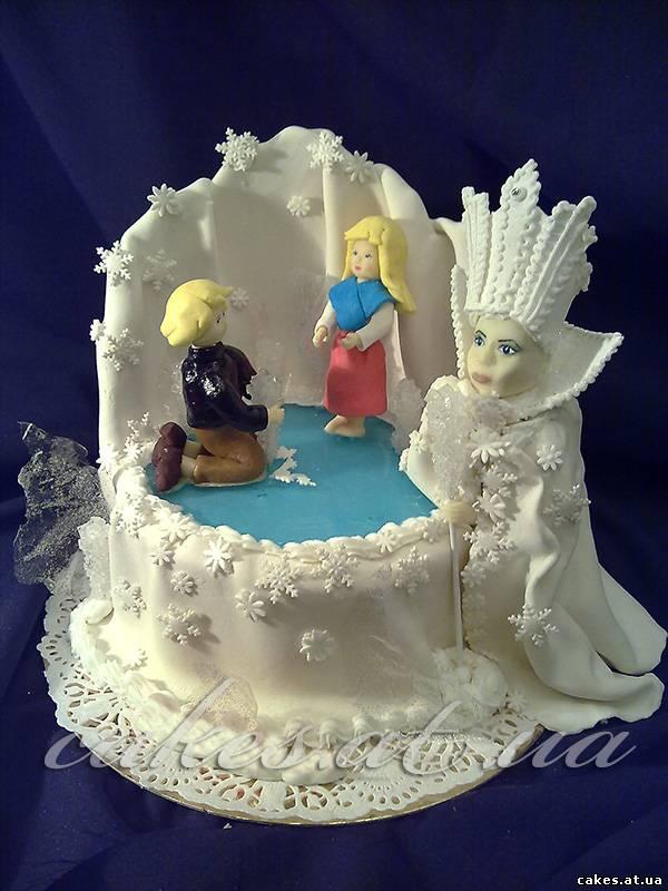 Снежная королева, картинки, торты